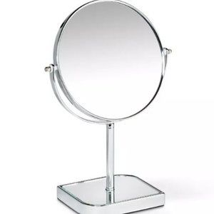 Glass and Chrome Makeup Vanity Mirror by 88 Lane